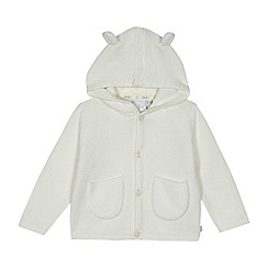 J by Jasper Conran - Babies' white hooded cardigan