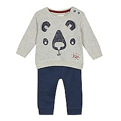 Mantaray - Baby boys' panda print sweatshirt and jogging bottoms