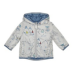 Mantaray - Baby boys' silver printed hooded jacket