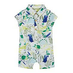 Mantaray - 'Baby boys' multi-coloured dinosaur print romper suit