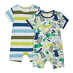 Mantaray - Pack of two babies multi-coloured printed romper suits