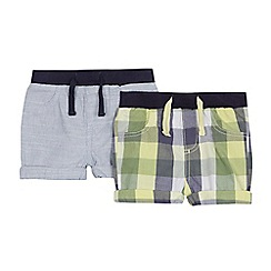 Mantaray - Pack of two baby boys' assorted patterned shorts