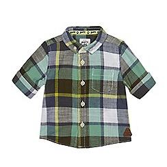 Mantaray - Baby boys' green checked shirt