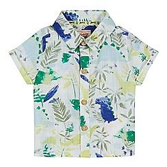 Mantaray - 'Baby boys' multi-coloured dinosaur print short sleeve shirt