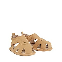 Mantaray - Babies tan suedette sandals