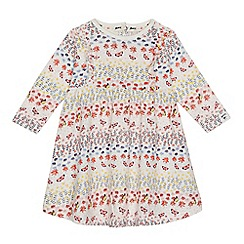 Mantaray - Baby girls' multi-coloured floral print dress