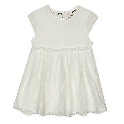 Mantaray - Baby girls' off white lace dress
