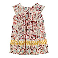 Mantaray - 'Baby girls' multi-coloured tile print dress