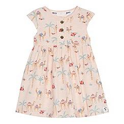 Mantaray - 'Baby girls' pink camel print dress