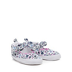 Mantaray - 'Baby girls' multi-coloured ditsy floral shoes