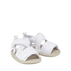 Mantaray - 'Baby girls' white broderie sandals