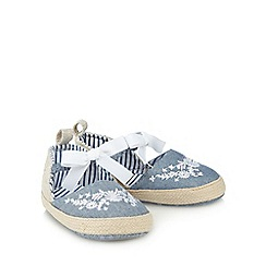 J by Jasper Conran - Baby girls' blue pumps