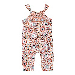 Mantaray - 'Baby girls' multi-coloured floral print sleeveless romper