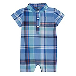 bluezoo - 'Baby boys' blue checked romper suit