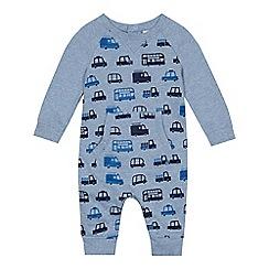 bluezoo - Baby boys' blue vehicle print romper suit