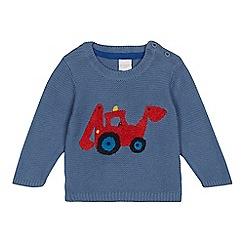 bluezoo - Baby boys' blue digger jumper