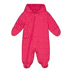 bluezoo - Baby girls' pink bunny textured snowsuit