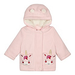 bluezoo - 'Baby girls' pink unicorn pocket jacket