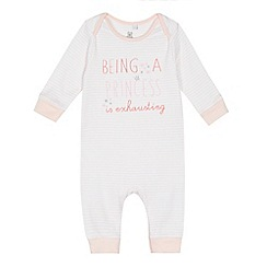 bluezoo - Baby girls' pink 'Being a princess' sleepsuit