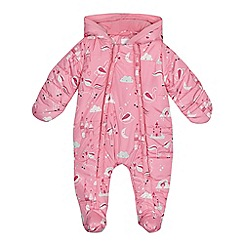 bluezoo - Baby girls' pink printed snowsuit
