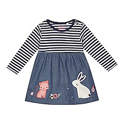 bluezoo - 'Baby girls' navy striped dress