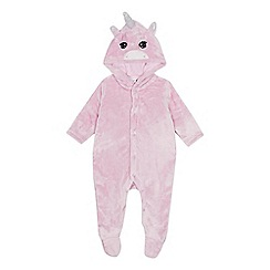bluezoo - Baby girls' pink unicorn onesie