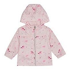 bluezoo - Baby girls' pink unicorn print jacket