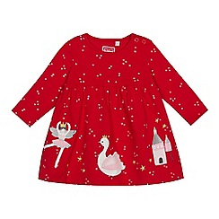 bluezoo - Baby girls' red fairy applique dress