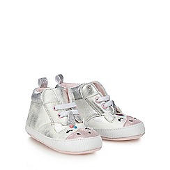 bluezoo - Baby girls' silver unicorn trainers