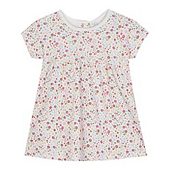 bluezoo - Baby girls' multi-coloured floral print jersey dress