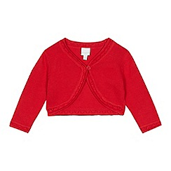 bluezoo - Baby girl's red scalloped cardigan