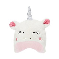 bluezoo - Baby girls' off white unicorn trapper hat