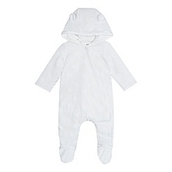 bluezoo - Babies' white star textured snugglesuit