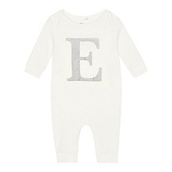 bluezoo - Babies' silver 'E' cotton sleepsuit