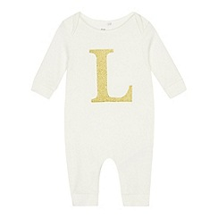 bluezoo - Babies' Gold 'L' Cotton Sleepsuit