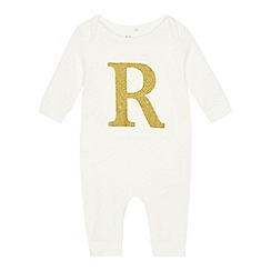 bluezoo - Babies' gold 'R' cotton sleepsuit