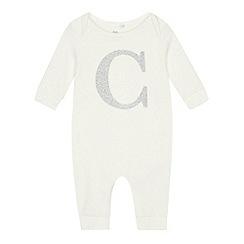 bluezoo - Babies' Silver 'C' Cotton Sleepsuit