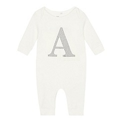 bluezoo - Babies' Silver 'A' Cotton Sleepsuit
