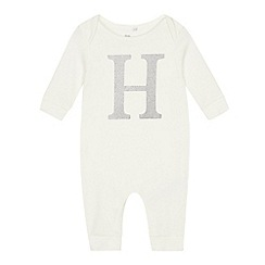 bluezoo - Baby silver 'H' sleepsuit