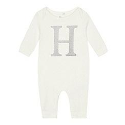 bluezoo - Babies' Silver 'H' Cotton Sleepsuit