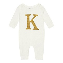 bluezoo - Babies' Gold 'K' Cotton Sleepsuit