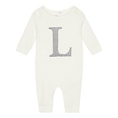 bluezoo - Babies' off-white 'L' sleepsuit