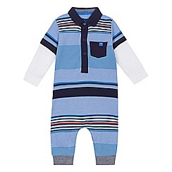 J by Jasper Conran - 'Baby boys' multi-coloured striped romper suit