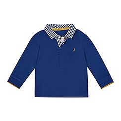 J by Jasper Conran - 'Baby boys' blue gingham collar long sleeve polo top