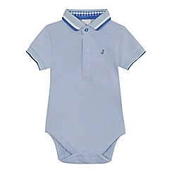 J by Jasper Conran - Baby boys' light blue polo bodysuit