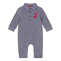 J by Jasper Conran - 'Baby boy's grey logo applique romper suit