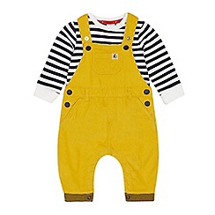 J by Jasper Conran - Baby boys' mustard dungarees and t-shirt set
