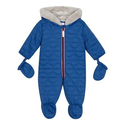 eb598d7a6 J by Jasper Conran Babies blue quilted snowsuit