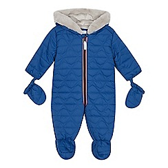 J by Jasper Conran - Babies blue quilted snowsuit