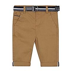 J by Jasper Conran - Baby boys' dark tan slim fit chino trousers